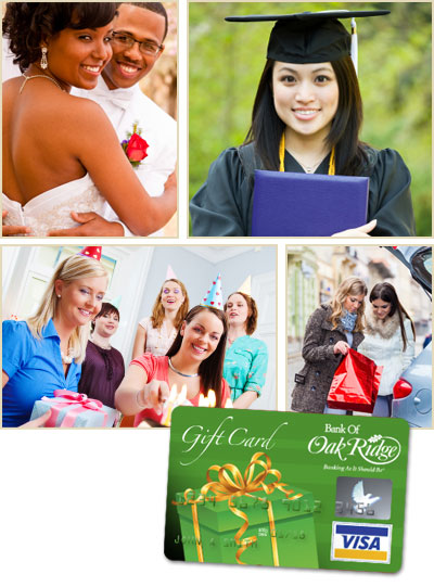 Bank of Oak Ridge Visa® Gift Card
